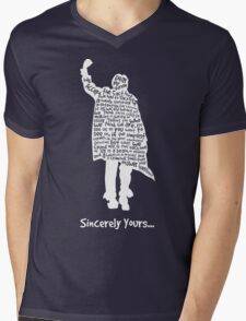 The Breakfast Club - Sincerely Yours - White Mens V-Neck T-Shirt