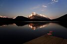 Mount Rundle At Sunset by Alex Preiss