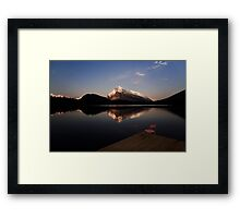 Mount Rundle At Sunset Framed Print