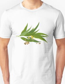 Eucalyptus twig with leaves, flowers and seeds Unisex T-Shirt
