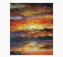 Impressionist Abstract Sunset Sunrise Ocean  Classic T-Shirt