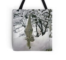 Fence in Winter Tote Bag