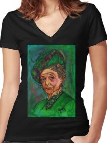 Dowager Countess Women's Fitted V-Neck T-Shirt
