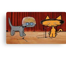 Donald Cat and Ted Catz Debate Canvas Print