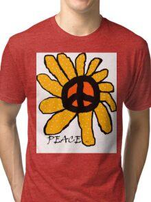 flower power - Peace Tri-blend T-Shirt