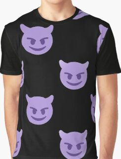 purple devil emoji Graphic T-Shirt