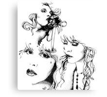 Trois Stevie Canvas Print