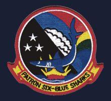 VP-6 Blue Sharks Crest One Piece - Long Sleeve
