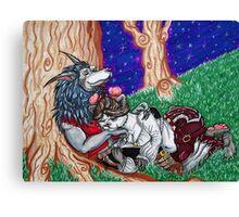 Pandaren and Worgen Cuddles Canvas Print