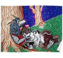 Pandaren and Worgen Cuddles Poster