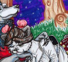 Pandaren and Worgen Cuddles Sticker