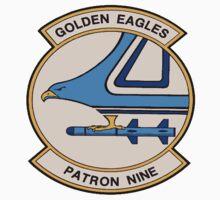VP-9 Golden Eagles Crest Kids Tee