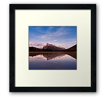 Mount Rundle Seen From Vermilion Lakes Framed Print