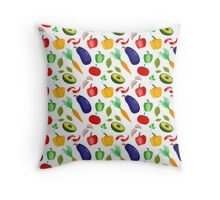 Fun food background Throw Pillow