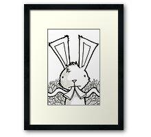 Bunny on Carrot. Framed Print