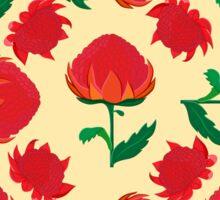Bright waratah pattern Sticker