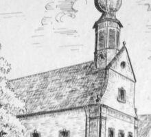 Zeichnung der Kirche in Worms-Pfifflingheim Sticker
