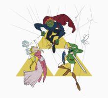 Legend of Zelda Puppets, Full Color One Piece - Short Sleeve