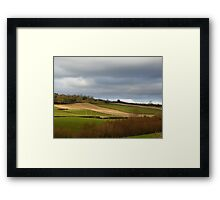 The Ploughed Fields Of Inch Island Framed Print