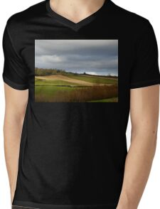 The Ploughed Fields Of Inch Island Mens V-Neck T-Shirt