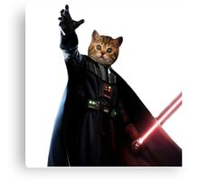 Cat Vader Kitty Starwars TW  Canvas Print