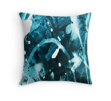 """Blue Flower Memory 1"" Throw Pillow"
