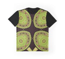 Chameleons Unite Abstract Pattern Graphic T-Shirt