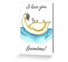 A Swim with Grandma Greeting Card