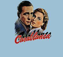 CASABLANCA BOGART BERGMAN VINTAGE ART Womens Fitted T-Shirt