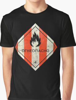 Launch flammable sign Graphic T-Shirt