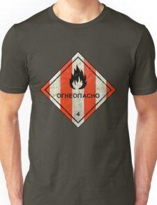 Launch flammable sign Unisex T-Shirt