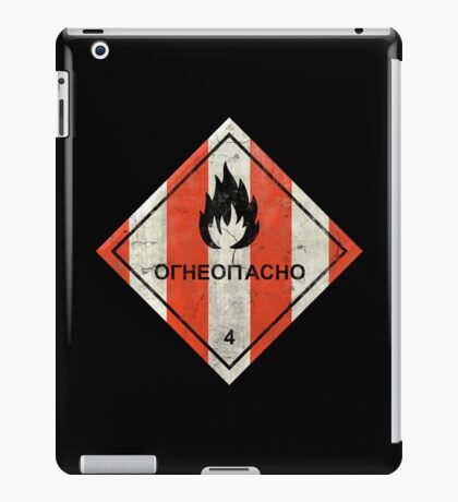 Launch flammable sign iPad Case/Skin