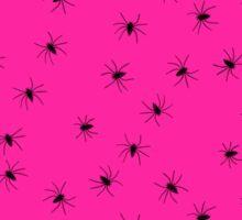 hot pink spider Sticker
