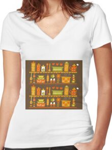 Lets Cook at Home Women's Fitted V-Neck T-Shirt