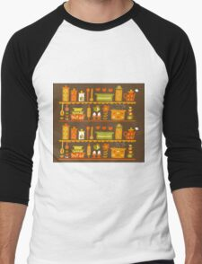 Lets Cook at Home Men's Baseball ¾ T-Shirt