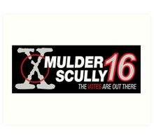 Mulder / Scully 2016 Art Print