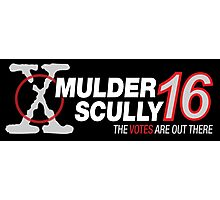 Mulder / Scully 2016 Photographic Print