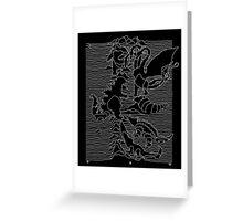 Kaiju Division Parody Greeting Card