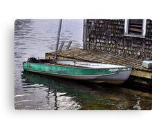 Halifax Mooring - Boatshed Art Canvas Print