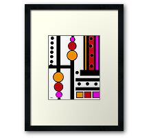 modernism red yellow pink Framed Print