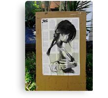 drawing outdoors Canvas Print