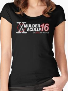 Mulder / Scully 2016 Women's Fitted Scoop T-Shirt