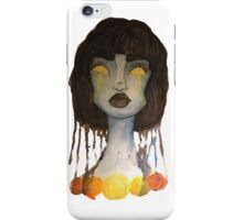 Original Blue and Orange Watercolor Illustration iPhone Case/Skin