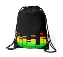 DJ Music Beat Equalizer Drawstring Bag
