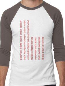 United States Names Flag Men's Baseball ¾ T-Shirt