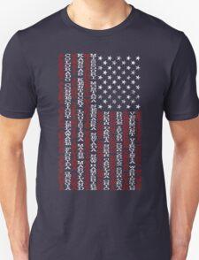 United States Names Flag Unisex T-Shirt