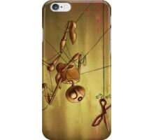 Staring Puppet at Scissors iPhone Case/Skin