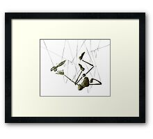 Creepy Puppet, Hanging with Scissors no Background Framed Print