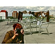 Rooftop Reflections Photographic Print