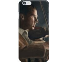 Sherlock with his Violin iPhone Case/Skin